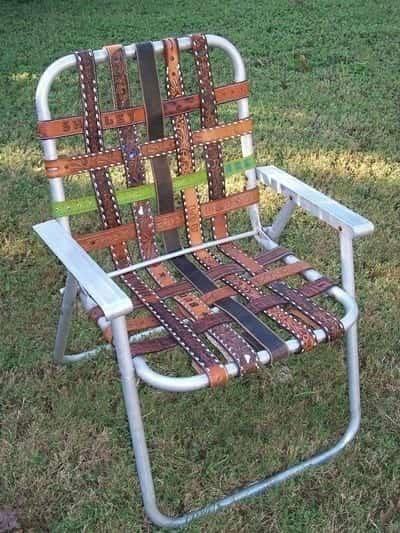 chaise pliante avec ceinture