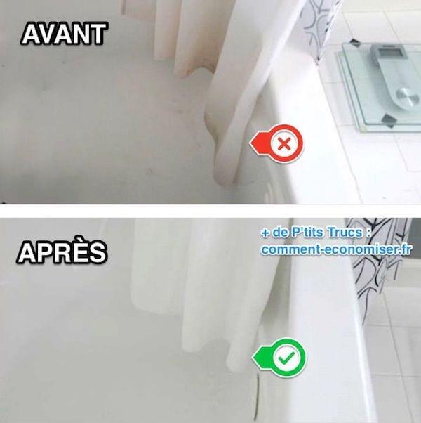 Comment nettoyer le rideau de douche moisi facilement