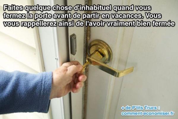 Comment se souvenir que vous avez bien fermé la porte