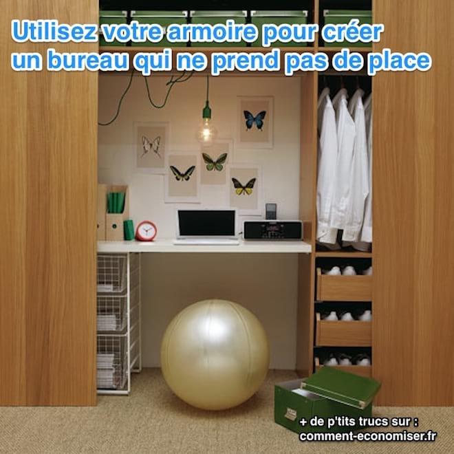 une super astuce pour cr er un bureau quand on manque de. Black Bedroom Furniture Sets. Home Design Ideas