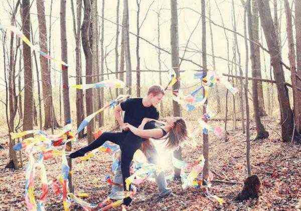 Dansez dans les bois pour la saint valentin