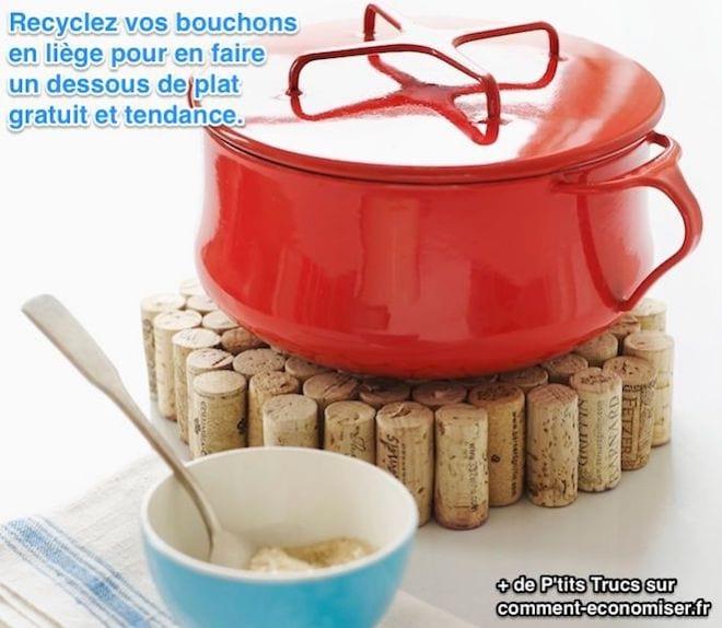 Recyclez vos bouchons de liège en dessous de plat