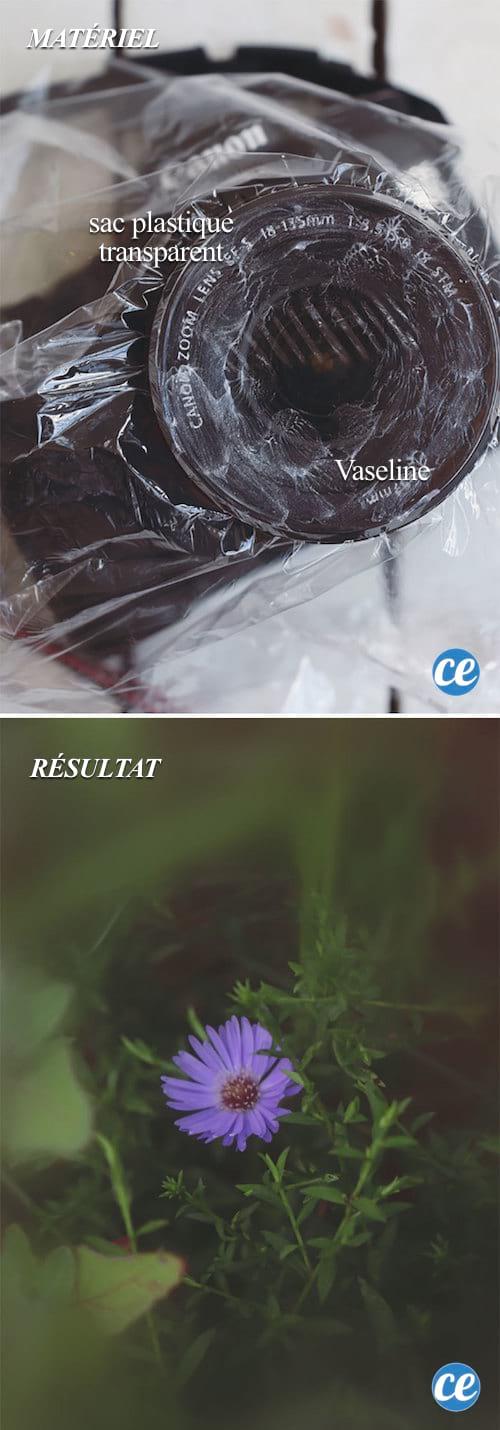 Utilisez de la Vaseline sur votre objectif pour un effet psychédélique.