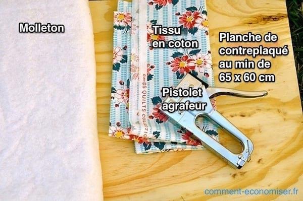 Voici comment faire sa planche repasser facilement en 15 - Molleton pour table a repasser ...