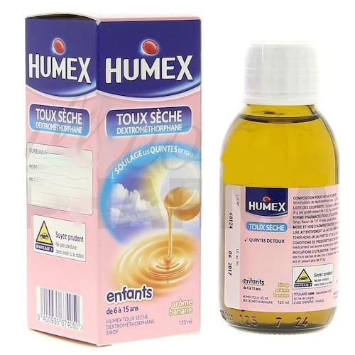 Humex toux sèche est dangereux pour la santé des petits