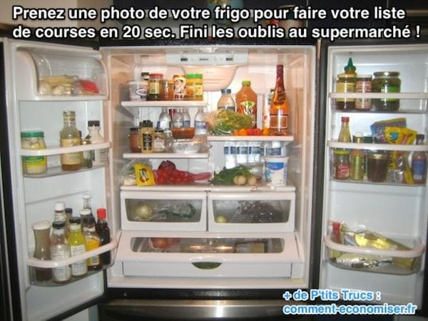 Prenez une photo de votre frigo pour faire votre liste de courses rapidement