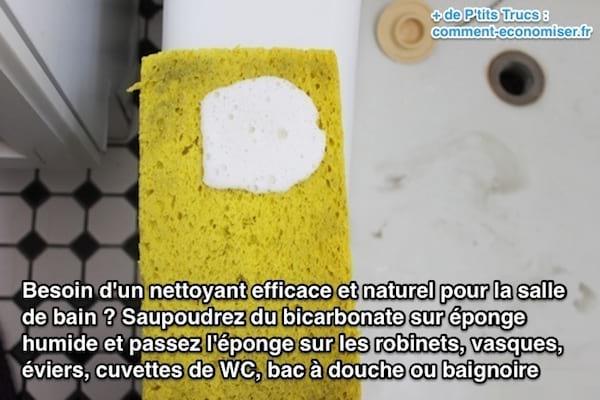 Enfin un nettoyant pour la salle de bain naturel et efficace - Bicarbonate de soude nettoyage salle de bain ...
