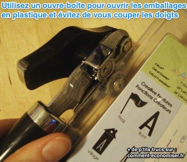 Voici comment ouvrir un emballage en plastique sans vous couper les doigts