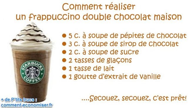 la d licieuse recette du frappuccino chocolat fait maison. Black Bedroom Furniture Sets. Home Design Ideas