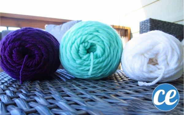 Pelotes de fil de laine super doux et agréable au toucher.