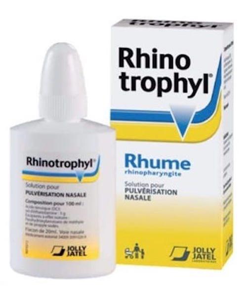 Rhinotrophyl (acide ténoïqueet sel d'éthanolamine) est à éviter pour les enfants