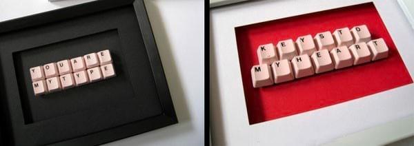 tableau deco avec lettre vieux clavier