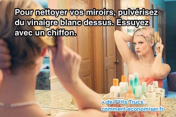nettoyer miroir vinaigre blanc