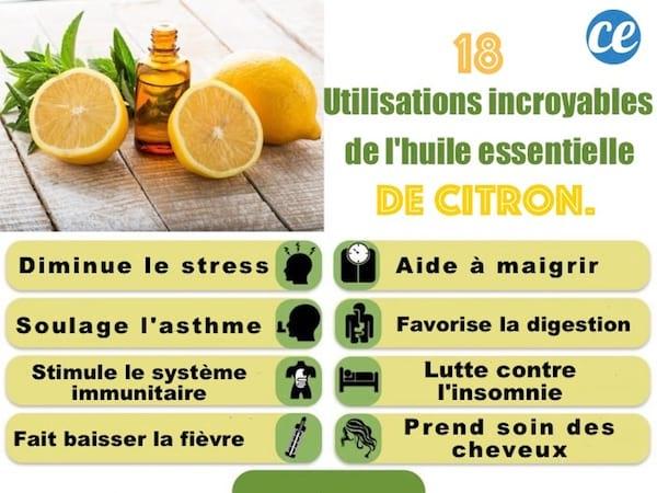 que faire avec des huiles essentielles de citron