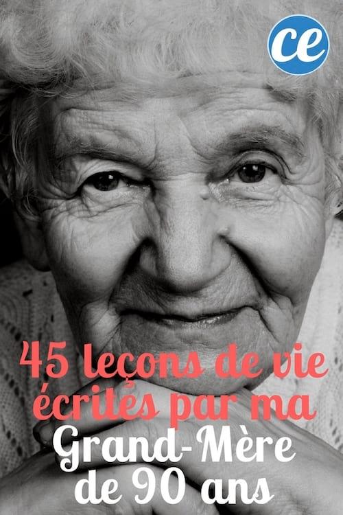 45 leçons de vie de ma grand-mère de 90 ans