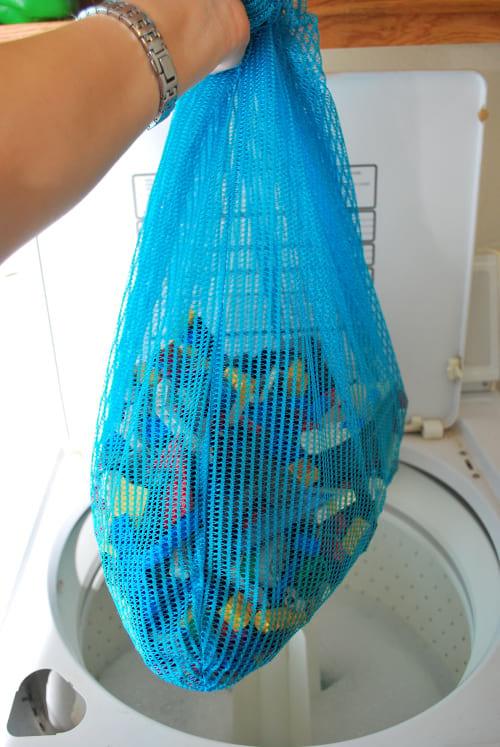 laver les légo ds enfants dans la machine à laver