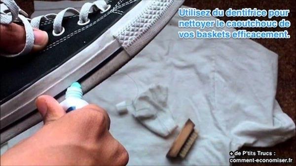 l 39 astuce tonnante pour nettoyer ses baskets efficacement. Black Bedroom Furniture Sets. Home Design Ideas