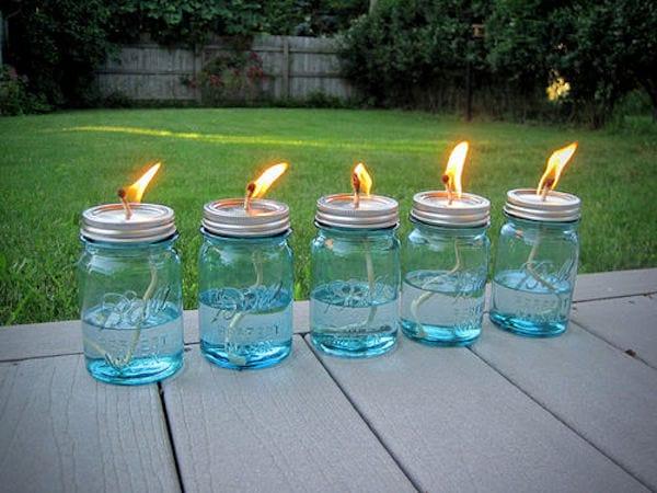 faire lampe à huile avec bocal