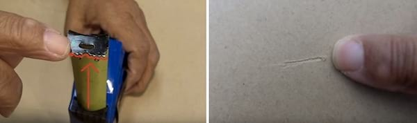 Les petites dents au bout des mètres-rubans sont là pour marquer vos mesures sans crayon