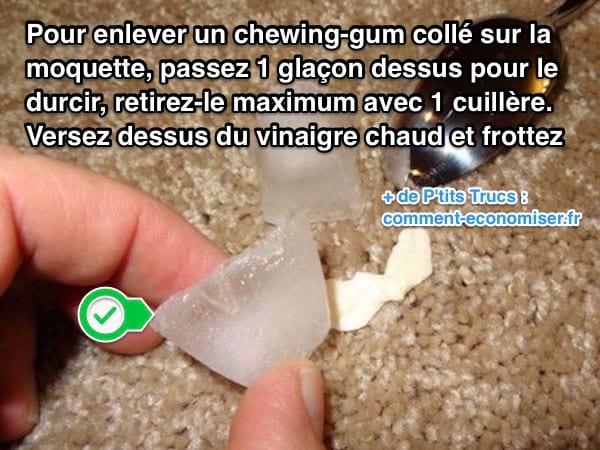 LAstuce Pour Enlever Un ChewingGum Coll Sur La Moquette Sans Frotter