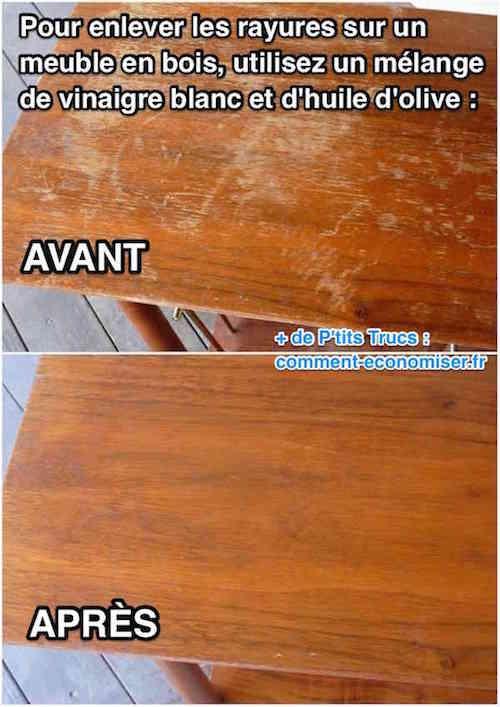 Vous avez une table en bois 11 astuces miracle pour - Comment enlever une tache d huile sur un vetement ...