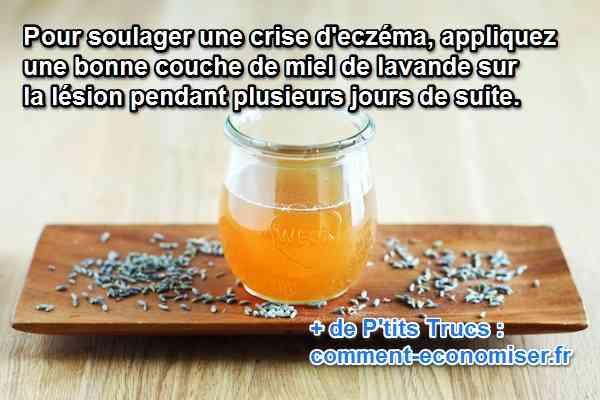 remede pour soulager crise eczéma miel lavande