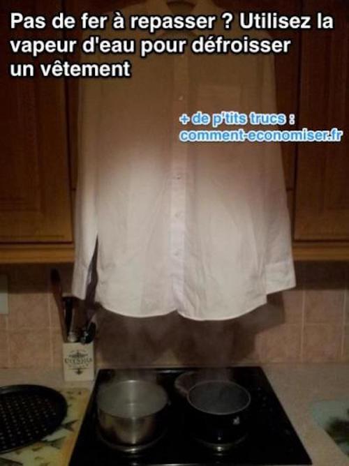 10 astuces efficaces pour d froisser un v tement sans fer repasser - Comment nettoyer un fer a repasser ...