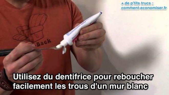 Comment Utiliser Du Dentifrice Pour Reboucher Les Trous DUn Mur Blanc