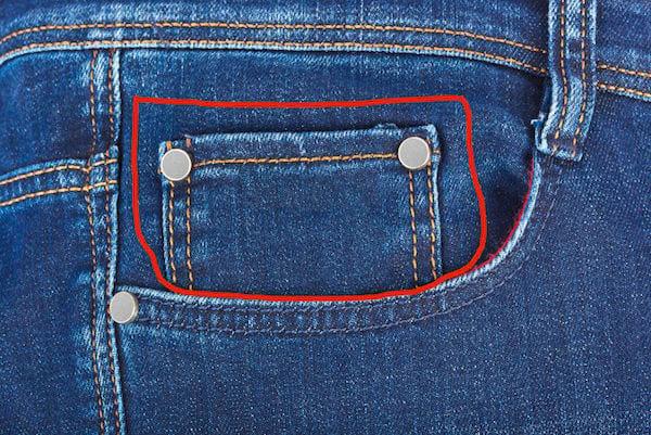 Les petites poches sur les blue jeans servaient à ranger les montres à gousset.