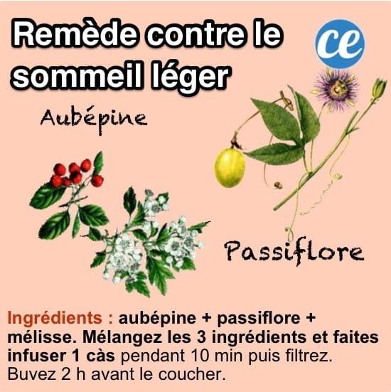 recette de remède de grand-mère pour ne plus avoir de sommeil léger grâce à une infusion aux plantes