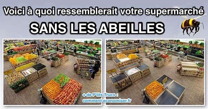 a quoi ressemblerait un supermarché sans les abeilles