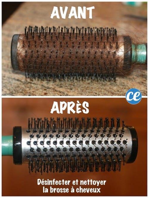 comment désinfecter et nettoyer une brosse à cheveux