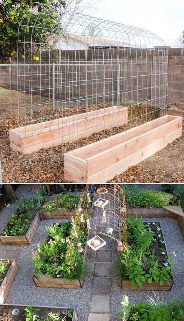 Raised Vegetable Garden Layout Boxes