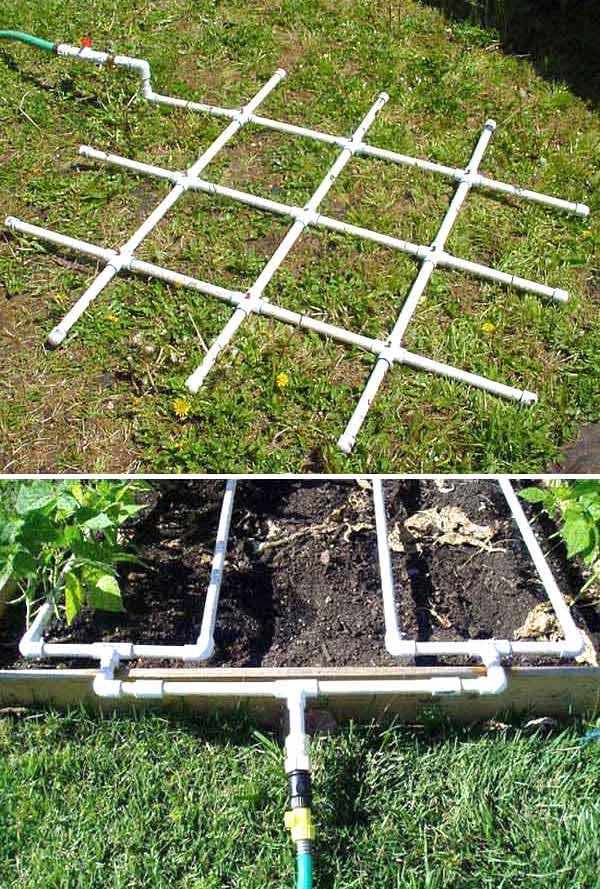 fabriquer une grille pour irriguer le potager