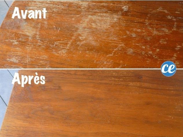 comment enlever les traces d'eau sur un meuble en bois