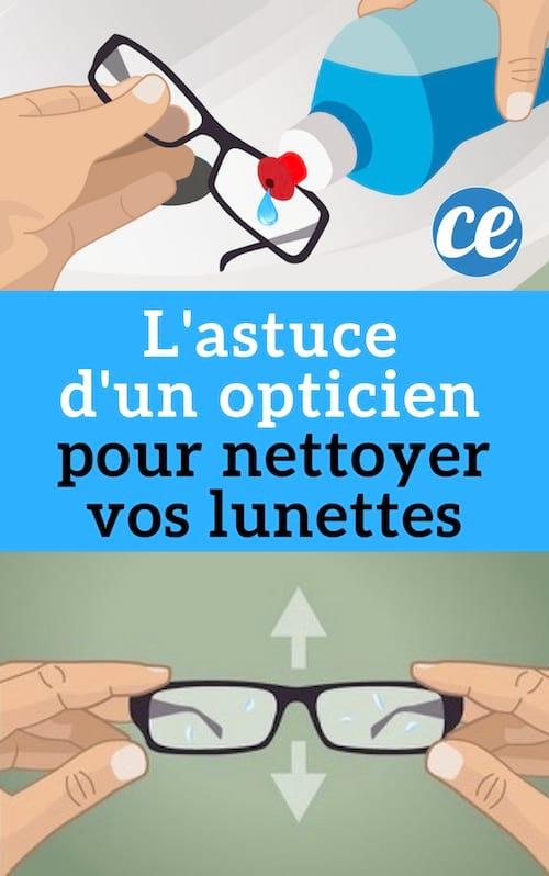 Pour Vos Les Lunettes L'astuce D'un Garder Opticien Nettoyer et