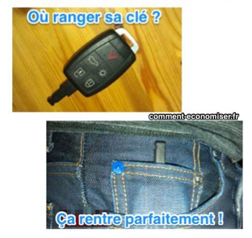 rangezles clefs de votre voiture dans la petite poche du jean