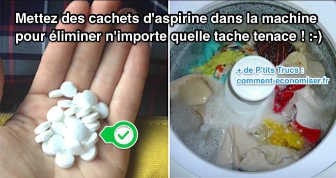 Utilisez des cachets d'aspirine pour enlever les taches sur les vêtements