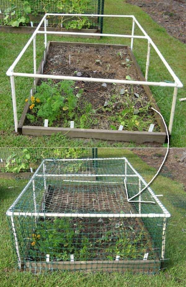 structure-tuyau-et-filet-protection-jardin