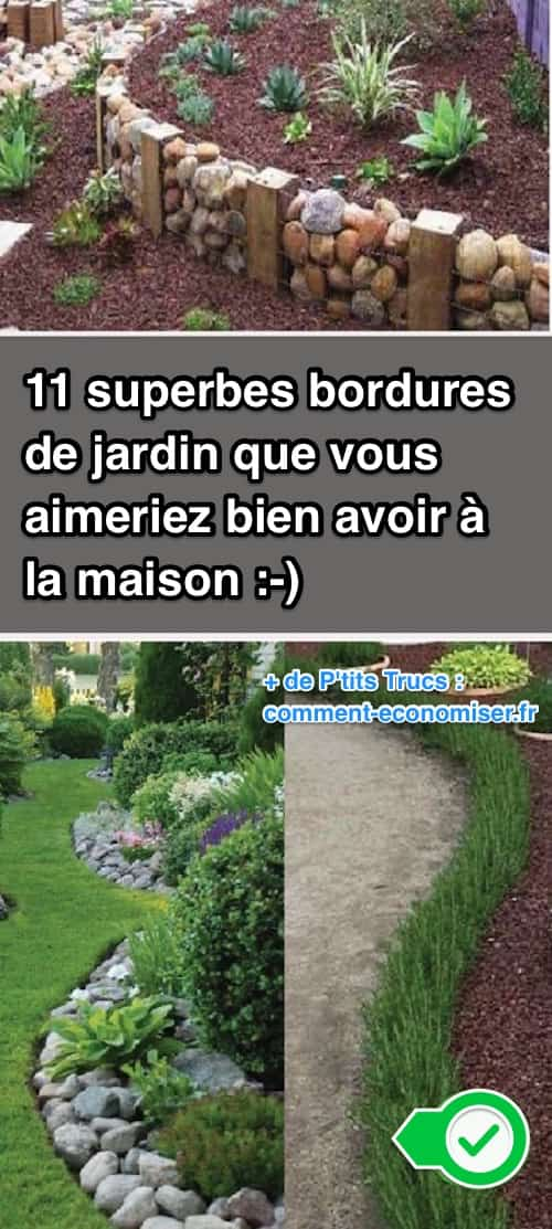 11 superbes bordures de jardin que vous aimeriez bien avoir la maison. Black Bedroom Furniture Sets. Home Design Ideas