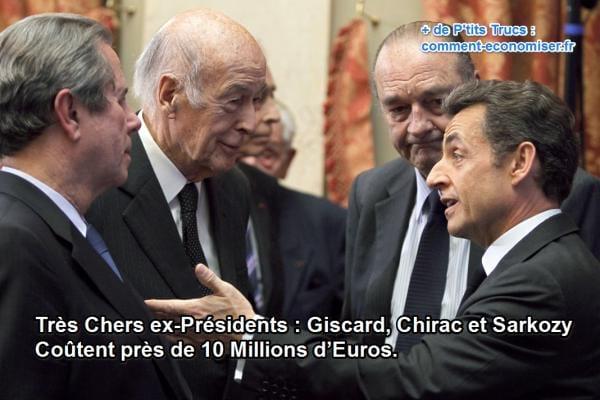 10 millions d'euros dépenses par l'Etat pour les anciens présidents