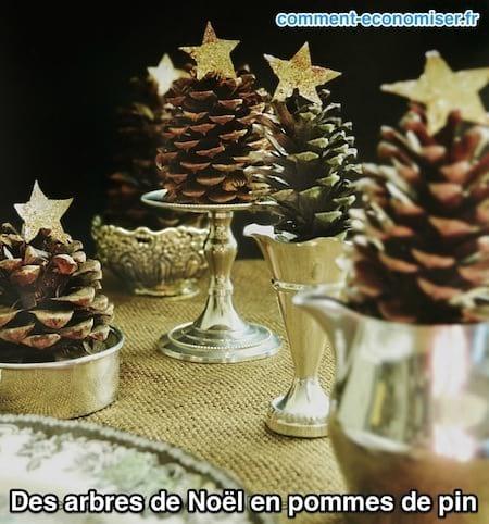 Arbres de Noel en pomme de pin