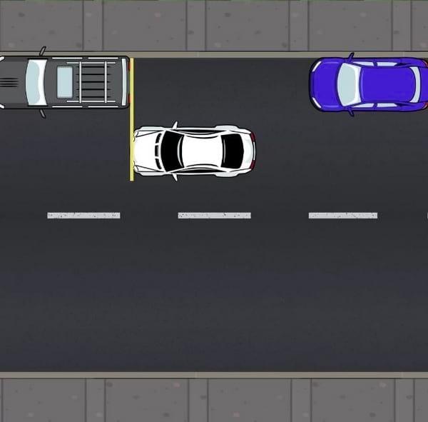arreter devant la voiture de devant