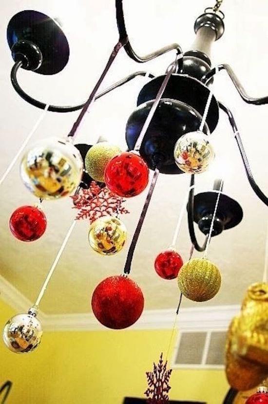 Decoration De Noel Lustre Ruban