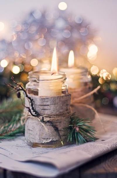 Bois de bouleau sur les bougies