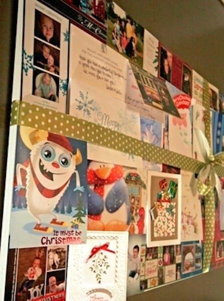 Faites collage des anciennes cartes de Noel