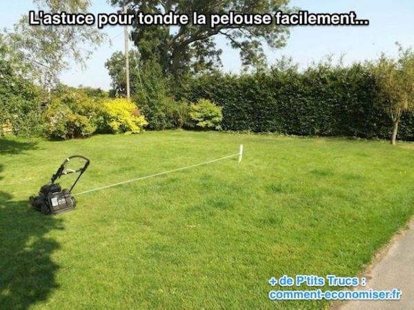 L'astuce pour tondre sa pelouse rapidement et facilement