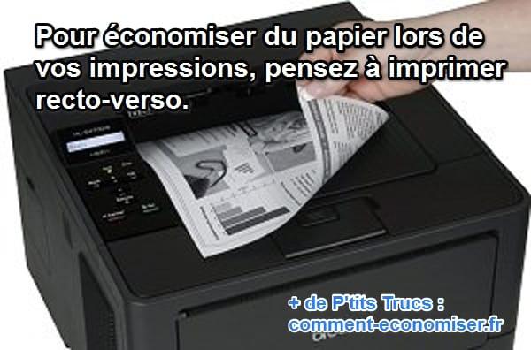 la meilleure astuce pour  u00c9conomiser le papier de votre imprimante