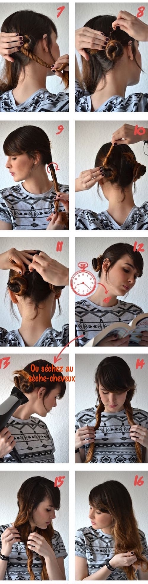 faire onduler ses cheveux avec de l'eau