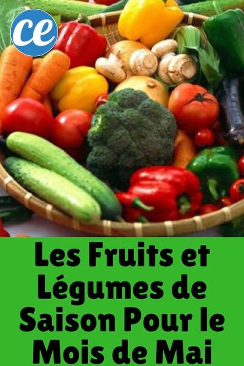 Les Fruits et Légumes de Saison Pour le Mois de Mai.
